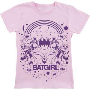 Batman Batgirl detské tricko světle růžová