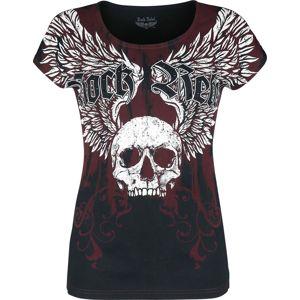 Rock Rebel by EMP schwarz/rotes T-Shirt mit Print und Rundhalsausschnitt dívcí tricko cerná/cervená