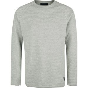 Shine Original Raglan Roll Edge Knit Relaxed Fit Pletený svetr prošedivelá