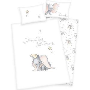 Dumbo Flanelové ložní prádlo Dumbo Ložní prádlo bílá/šedá