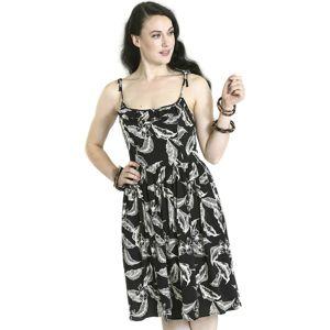 Hell Bunny Šaty Chiara šaty cerná/bílá