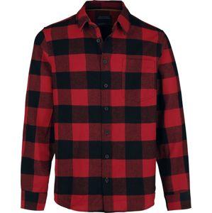 Stitch and Soul Men's Flanell Karo Shirt košile cerná/cervená