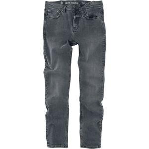 Shine Original Black Stonewash Slim Fit Džíny černá