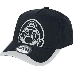 Super Mario Face Baseballová kšiltovka černá