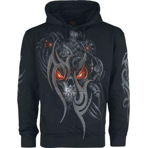Spiral Steampunk Skull mikina s kapucí černá