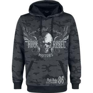 Rock Rebel by EMP Bodies mikina s kapucí tmavě šedá