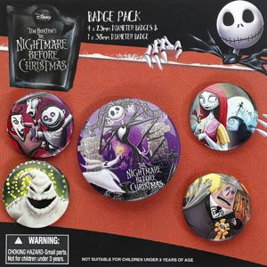 The Nightmare Before Christmas Characters Sada odznaku vícebarevný
