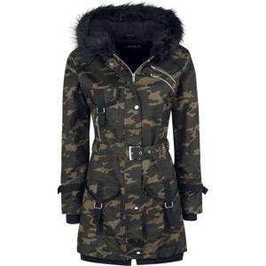 Gothicana by EMP Multi Pocket Jacket dívcí bunda maskáčová