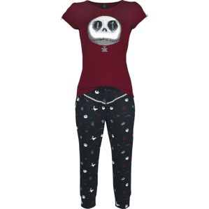 The Nightmare Before Christmas Jack Goes Fashion pyžama cervená/cerná
