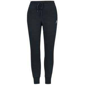 Converse Embroidered Brushed Back Fleece Pant Dámské tepláky černá