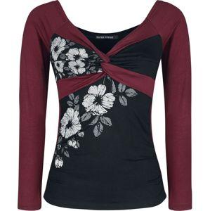 Outer Vision Dead Crown Flowers dívcí triko s dlouhými rukávy cerná/cervená