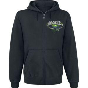 Rage Wings Of Rage mikina s kapucí na zip černá
