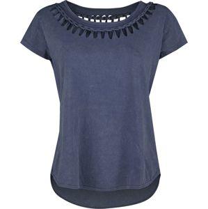 Black Premium by EMP blaues T-Shirt mit Waschung und spezieller Schnürung dívcí tricko modrá