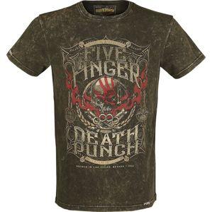 Five Finger Death Punch EMP Signature Collection tricko hnědá