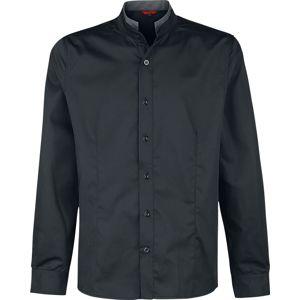 Banned Alternative Košile Double Collar košile černá
