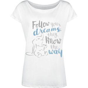 Dumbo Follow Your Dreams dívcí tricko bílá