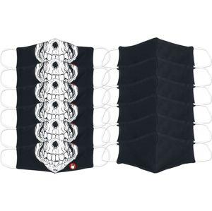 EMP Skull - 12er Bundle - Normal Size maska cerná/bílá