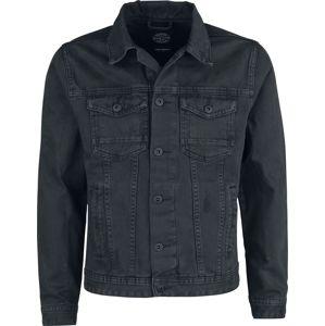 Shine Original Slim Fit Denimová bunda Dusty Black riflová bunda černá