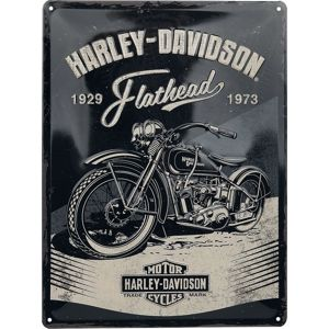 Harley-Davidson Flathead Black plechová cedule vícebarevný