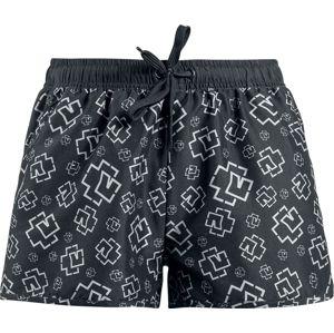 Rammstein Logo pánské plavky cerná/šedá