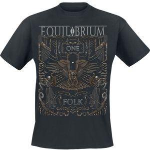 Equilibrium One Folk tricko černá
