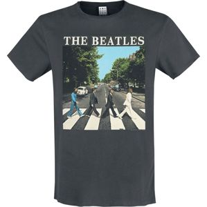The Beatles Amplified Collection - Abbey Road tricko charcoal