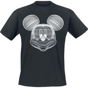 Mickey & Minnie Mouse Line Art tricko černá