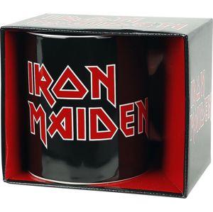 Iron Maiden Iron Maiden Logo Hrnek cerná/cervená/bílá