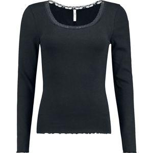 Hailys Linn dívcí triko s dlouhými rukávy černá