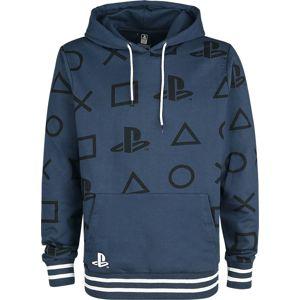 Playstation Icons mikina s kapucí modrá