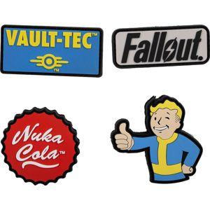 Fallout Sada gumových nášivek nášivka vícebarevný