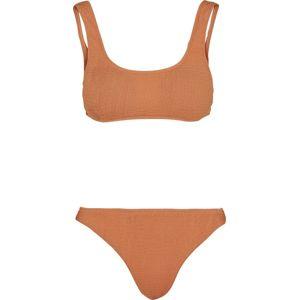 Urban Classics Dámské tankiny s pokrčeným efektem bikini meruňková
