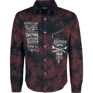Rock Rebel by EMP There Is No Business Like Rock Business košile burgundská červeň