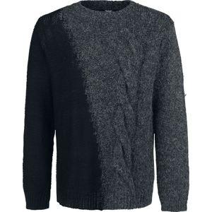 Black Premium by EMP Welcome To The Universe Pletený svetr tmave šedá/cerná