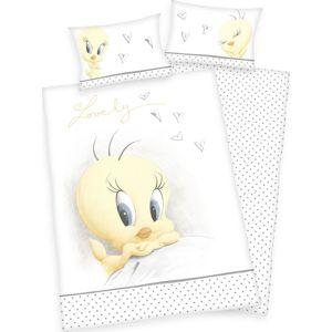 Looney Tunes Organické ložní prádlo Tweety Ložní prádlo bílá/žlutá