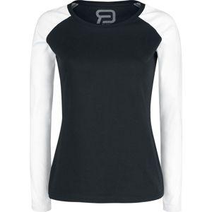 RED by EMP Long Raglan Road dívcí triko s dlouhými rukávy cerná/bílá
