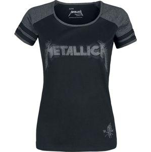 Metallica EMP Signature Collection dívcí tricko skvrnitá černá / šedá