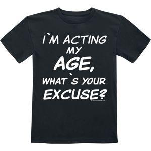 I'm Acting My Age detské tricko černá