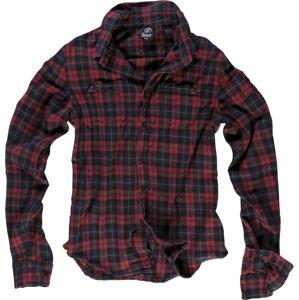 Brandit Košile s výztuží košile cervená/cerná
