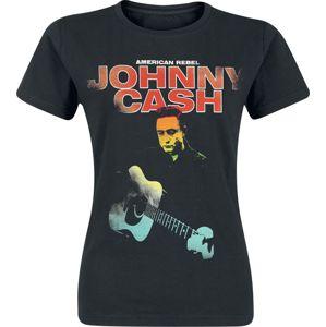 Johnny Cash American Rebel Fluorescent dívcí tricko černá