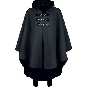 Gothicana by EMP schwarzes Cape mit Kapuze plášt černá