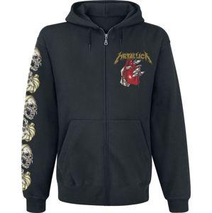 Metallica Heart Explosive mikina s kapucí na zip černá