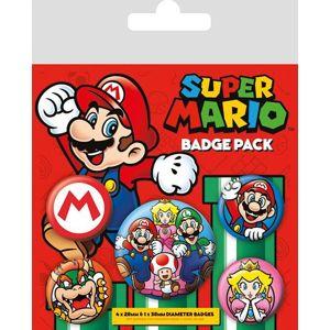 Super Mario Super Mario Sada odznaku vícebarevný