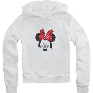 Mickey & Minnie Mouse Minnie Maus detská mikina s kapucí bílá