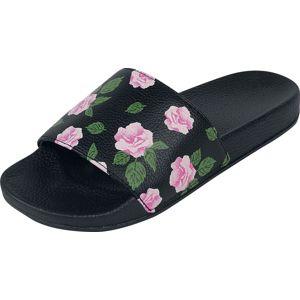 Fashion Victim Pantofle Roses sandály černá