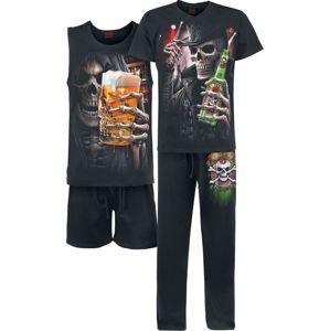 Spiral Triple 6 pyžama černá