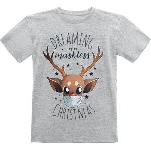 Dreaming Of A Maskless Christmas detské tricko šedá