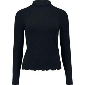 Hailys Elvi dívcí triko s dlouhými rukávy černá