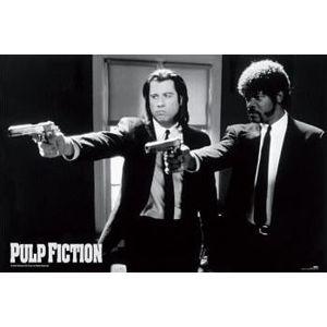 Pulp Fiction Guns plakát cerná/bílá