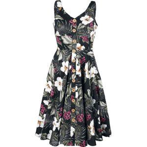 Hell Bunny Šaty Tahiti 50's šaty černá